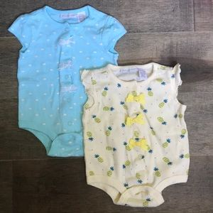 2 First Impressions girl onesies size 0-3 months